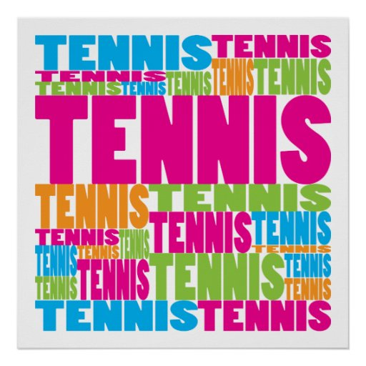 Colorful Tennis Poster