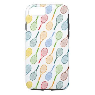 colorful tennis rackets pattern iPhone 7 case