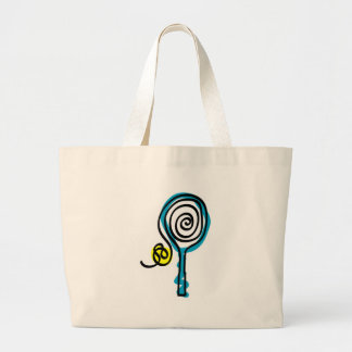 Colorful Tennis Spiral Rope Large Tote Bag