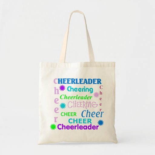 Colorful Text Cheerleader Bag