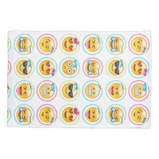 Colorful Text Emoji Pillowcase