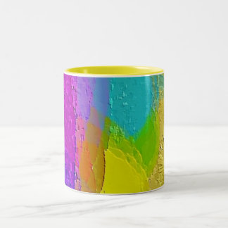 """Colorful Texture Mix"" Designer Coffee Mug"
