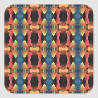 Colorful Textured Abstract Square Sticker