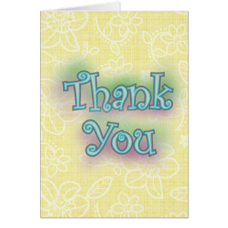 Colorful Thank You Greeting Card
