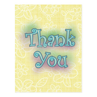 Colorful Thank You Postcard