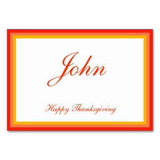 Colorful Thanksgiving Place Cards