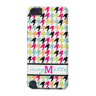 Colorful Thousand Birds Houndstooth Monogram iPod Touch 5G Cover