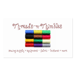Colorful Thread Business Cards