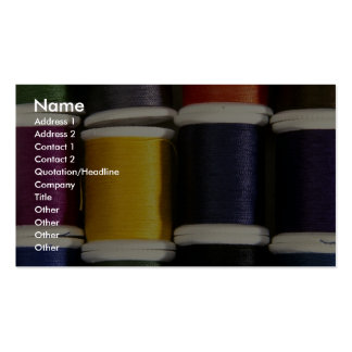 Colorful Thread Pack Of Standard Business Cards