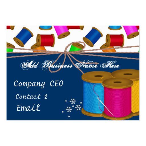 Colorful Threads & Needles Business Card