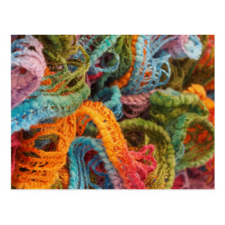 colorful threads postcard