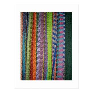 Colorful Threads Rainbow Postcard