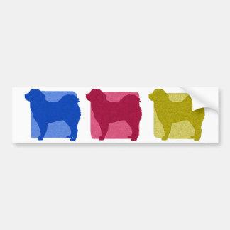 Colorful Tibetan Mastiff Silhouettes Bumper Sticker