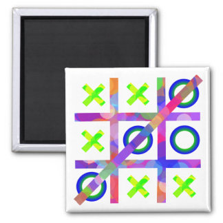 Colorful Tic Tac Toe Refrigerator Magnets