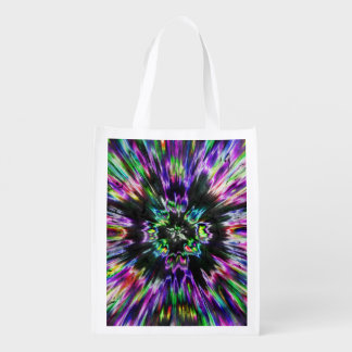 Colorful Tie Dye Abstract Reusable Grocery Bag