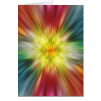 Colorful Tie Dye Greeting Card