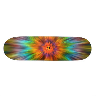 Colorful Tie Dye Starburst Skateboard Deck