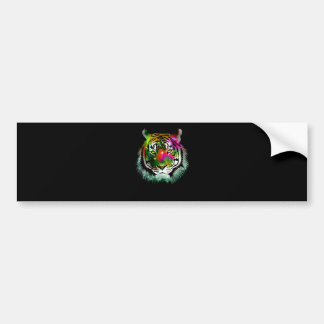 Colorful Tiger Animal Bumper Sticker