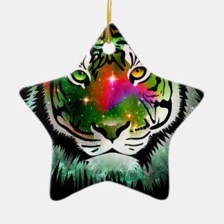 Colorful Tiger Animal Ceramic Star Decoration