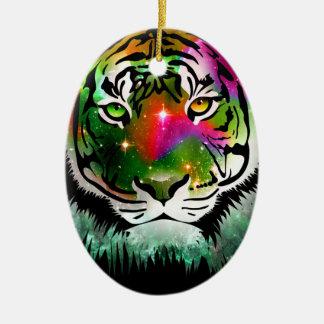 Colorful Tiger Animal Christmas Ornament