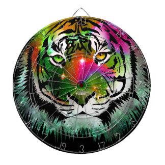 Colorful Tiger Animal Dartboard