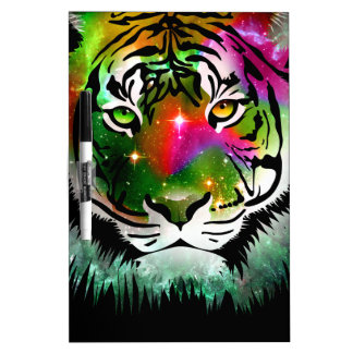 Colorful Tiger Animal Dry Erase Board
