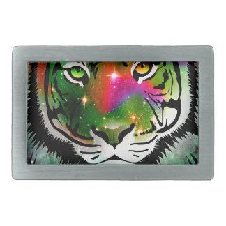Colorful Tiger Animal Rectangular Belt Buckles