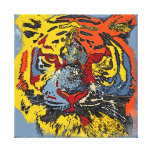 Colorful Tiger Gallery Wrapped Canvas
