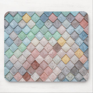 Colorful Tile Pattern Mouse Mat
