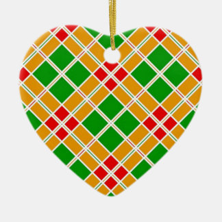 Colorful Tiled Art Ceramic Heart Decoration