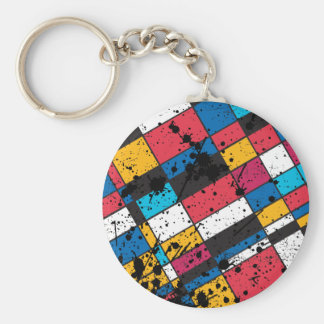 COLORFUL TILES BACKGROUND KEY CHAIN