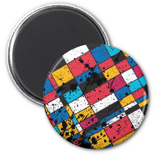 COLORFUL TILES BACKGROUND MAGNETS