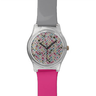 Colorful tiles pattern watch