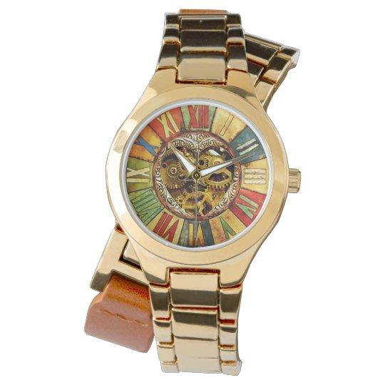 COLORFUL TIME / STEAM PUNK HEART WATCH