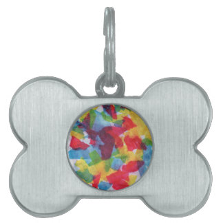 Colorful Tissue Pet ID Tag