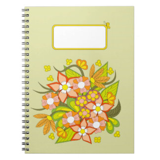 colorful to summer bouquet notebooks
