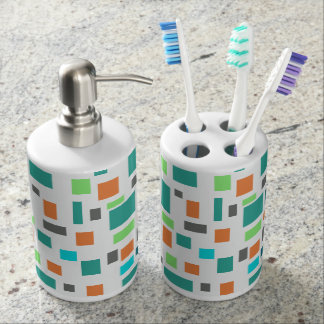 Colorful Toothbrush Holder and Soap Dispenser Set