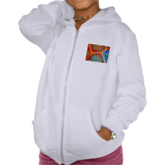 """COLORFUL TORTOISE SHELL"" Girl's Zip Hoodie"