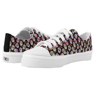 Colorful Tossed Sugar Skulls Low Tops