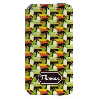 Colorful Toucans | Add Your Name Incipio Watson™ iPhone 6 Wallet Case