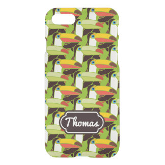Colorful Toucans   Add Your Name iPhone 7 Case