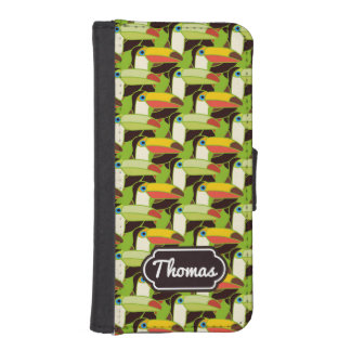 Colorful Toucans | Add Your Name iPhone SE/5/5s Wallet Case