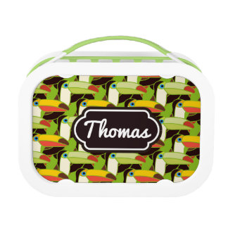 Colorful Toucans | Add Your Name Lunch Box