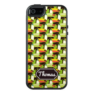 Colorful Toucans | Add Your Name OtterBox iPhone 5/5s/SE Case