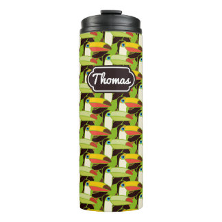 Colorful Toucans | Add Your Name Thermal Tumbler