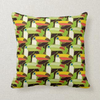 Colorful Toucans Cushion