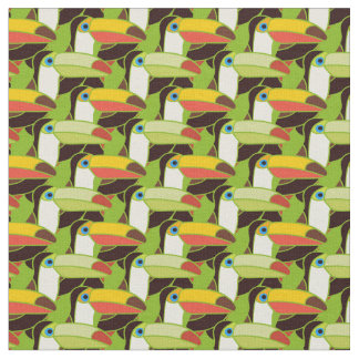 Colorful Toucans Fabric