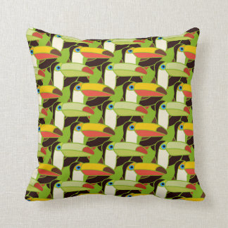 Colorful Toucans Throw Pillow