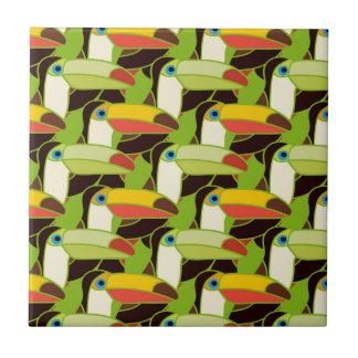 Colorful Toucans Tile