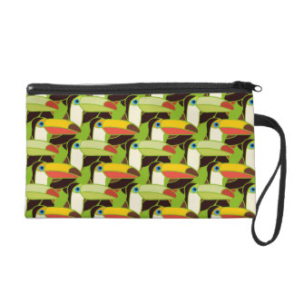 Colorful Toucans Wristlets